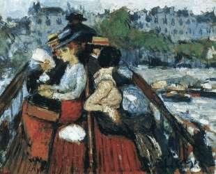 Crossind Seine on the upper deck — Пабло Пикассо