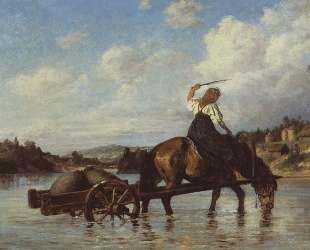 Переправа через реку Оять. С мельницы — Василий Поленов