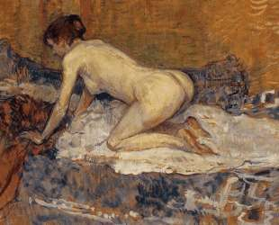 Crouching Woman with Red Hair — Анри де Тулуз-Лотрек