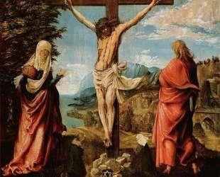 Распятие. Христос на кресте, Мария и Иоанн — Альбрехт Альтдорфер