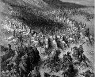 Крестоносцы в окружении армии Саладина — Гюстав Доре