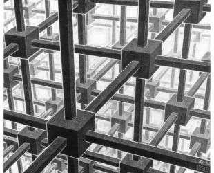 Cubic space division — Мауриц Корнелис Эшер