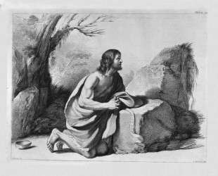 St. John the Baptist in prayer, by Guercino — Джованни Баттиста Пиранези