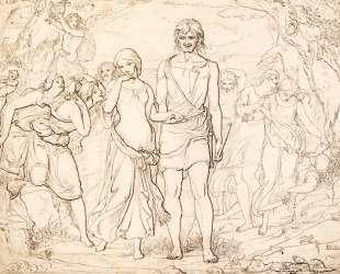 Cymon And Iphigenia, Study — Джон Эверетт Милле