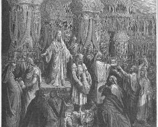 Кир восстанавливает сосуды Храма — Гюстав Доре