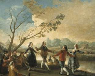 Dance of the Majos at the Banks of Manzanares — Франсиско де Гойя