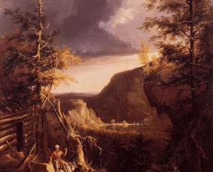 Daniel Boone Sitting at the Door of His Cabin on the Great Osage Lake — Томас Коул