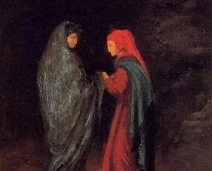 Данте и Вергилий у входа в ад — Эдгар Дега