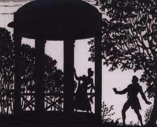 Свидание Владимира и Маши в саду — Борис Кустодиев