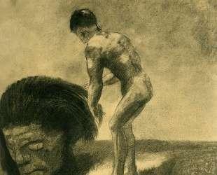 David and Goliath — Одилон Редон