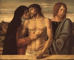 Мертвый Христос, поддерживаемый Мадонной и Св. Иоанном — Джованни Беллини