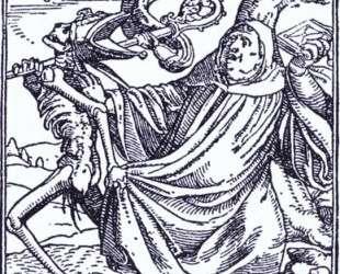 Death and the Abbott — Ганс Гольбейн Младший
