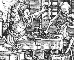 Death and the Miser, from The Dance of Death — Ганс Гольбейн Младший