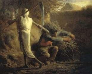 Смерть и дровосек — Жан-Франсуа Милле