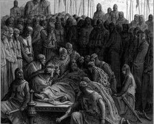Смерть Балдуина I Латинского короля Иерусалима — Гюстав Доре