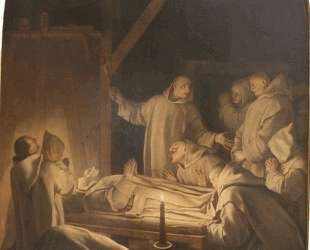 Death of St. Bruno — Эсташ Лёсюёр