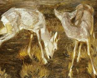 Deer at Dusk — Франц Марк