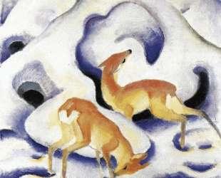 Deer in the Snow — Франц Марк