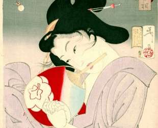 Delighted — The Appearance of a Geisha Today, during the Meiji Era — Цукиока Ёситоси
