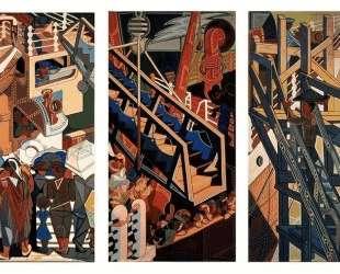 Departure of immigrants, tapestry — Хосе де Альмада Негрейрос