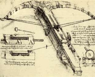 Design for a Giant Crossbow — Леонардо да Винчи