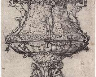 Design for a Table Fountain with the Badge of Anne Boleyn — Ганс Гольбейн Младший