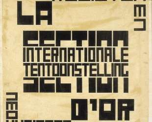 Design for an exhibition poster for 'La Section d'Or' — Тео ван Дусбург