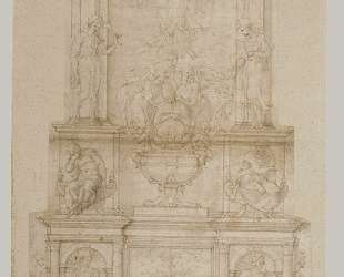 Design for Julius II tomb (first version) — Микеланджело