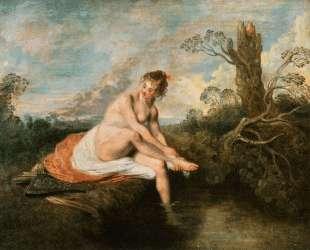 Diana at her Bath — Антуан Ватто