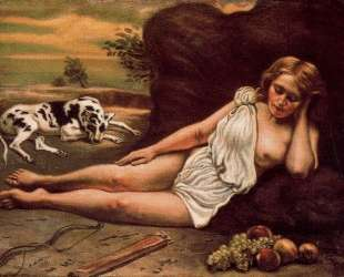Диана спит в лесу — Джорджо де Кирико