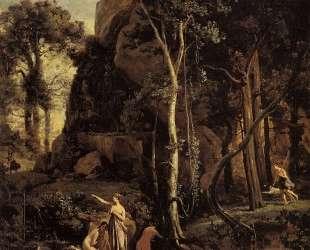 Диана, застигнутая в купели — Камиль Коро