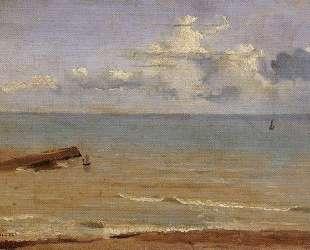 Дьепп. Конец пирса и море — Камиль Коро