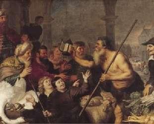 Diogenes searches for a man — Корнелис де Вос