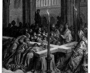 Открытие Истинного Креста — Гюстав Доре