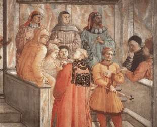 Disputation in the Synagogue (detail) — Филиппо Липпи