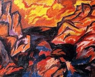 Пороги реки Днестр — Давид Бурлюк