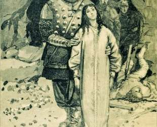 Dobrynya Nikitich. Illustration for the book 'Russian epic heroes' — Андрей Рябушкин