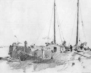 Docked Boats — Корнелис Вреденбург