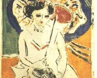 Dodo with a Japanese Umbrella — Эрнст Людвиг Кирхнер