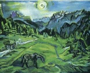 Dolomite Landscape: Tre Croci — Оскар Кокошка