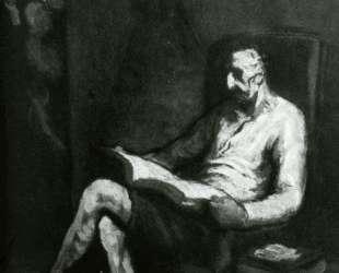 Дон Кихот читает — Оноре Домье
