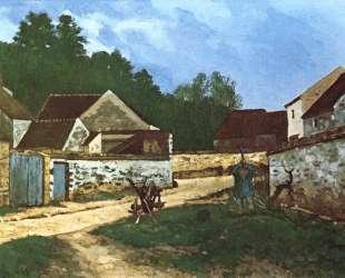 Dorfstrasse in Marlotte — Альфред Сислей