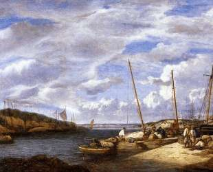 Douarnenez, Fishing Boats at Dockside — Эжен Буден