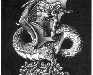 Dragon — Мауриц Корнелис Эшер