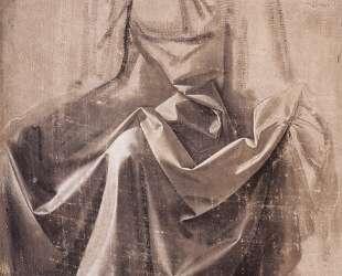 Drapery for a seated figure — Леонардо да Винчи