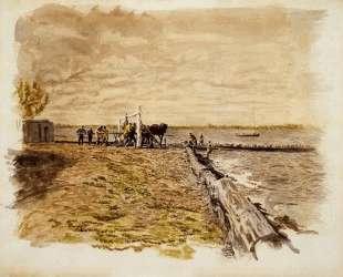 Drawing the Seine — Томас Икинс