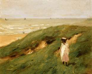 Dune near Nordwijk with Child — Макс Либерман
