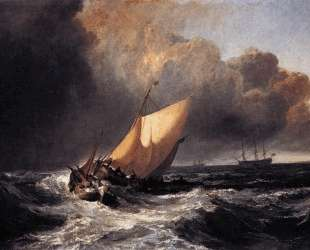 Dutch Boats in a Gale — Уильям Тёрнер