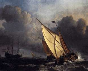 Dutch Fishing Boats in a Storm — Уильям Тёрнер