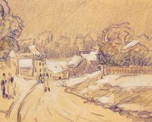 Early Snow at Louveciennes — Альфред Сислей